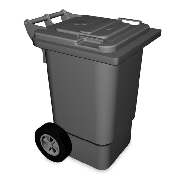 Balde do lixo em Plastico 120 Litros
